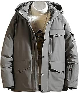 Macondoo Mens Fall Winter Classic Coat Hooded Puffer Cargo Parkas Coats