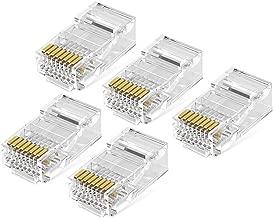 UGREEN 50 Unidades de Conectores RJ45 8P8C UTP para Cable Ethernet Cat5e Cat5, Chapados en Oro