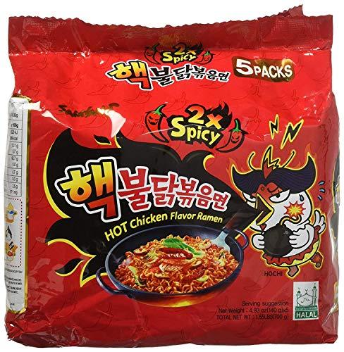 Samyang 2X Spicy Hot Chicken Flavor Ramen, 4.9oz (Pack of 10)