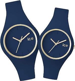 [アイスウォッチ]ICE WATCH 腕時計 ペアウォッチ アイスグラム 34mm&40mm ネイビー メンズ レディース [並行輸入品]