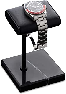 Watch Stand | Handcrafted Italian Napa Leather Natural Marble base | Watch display stand compliment all watches | Jewelry ...