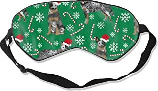 Australian Cattle Dog Blue Heeler Dog Breed Christ Sleep Mask Pack Men and Women Or Children Eye Mask No Pressure Eye Masks for Sleep & Travel
