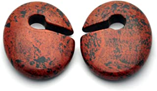 Pair of Oval Keyhole Stone Ear Weights (5/8