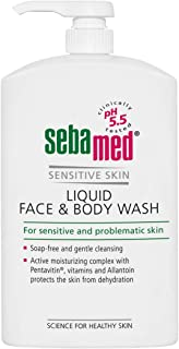 Sebamed Liquid Face and Body Wash 1L Pump, 1 count