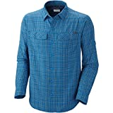 Columbia Silver Ridge - Camisa de Manga Larga para Hombre, Color Azul