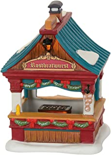 Department 56 Alpine Christmas Market Bratwurst Booth Set Village Accessory, Multicolor