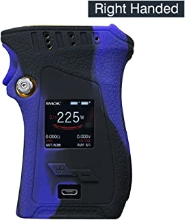 DSC-Mart Texture Case for Smok Mag 225W Right Handed Box MOD Protective Silicone Skin Rubber Cover Sleeve Wrap Gel fits MAG 225W Starter Kit (Blackpurple)