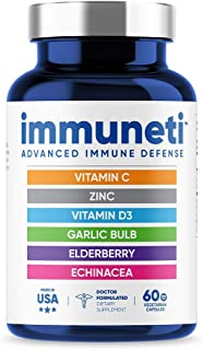 Immuneti - Advanced Immune Defense, 6-in-1 Powerful Blend of Vitamin C, Vitamin D3, Zinc,...