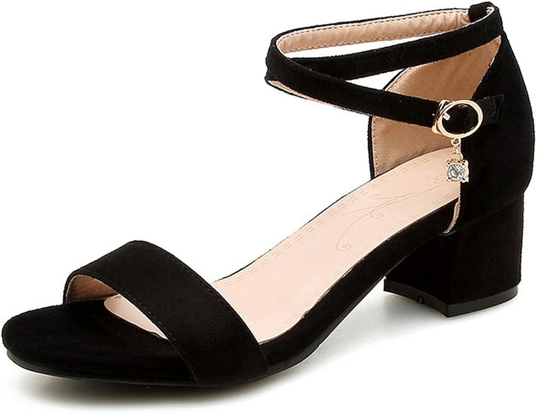 Summer Buckle Strap Sandals Bling Women shoes Casual Girl Open Toe Sandals Med Heels