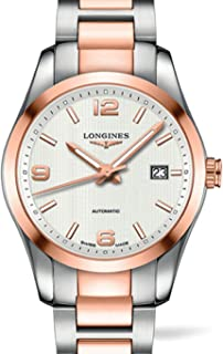 Longines Conquest Classic Automatic Silver Dial Stainless Steel and 18k Rose Gold Mens Watch L2.785.5.76.7 by Longines
