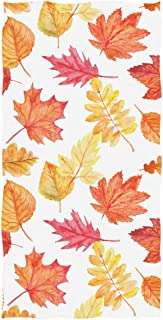 Wamika Maple Leaf Hand Towels Autumn Fall Face Towel Ultra Soft Highly Absorbent Guest Towel Portable Travel Kitchen Tea Towels Washcloths Bathroom Decor Housewarming Gifts 16
