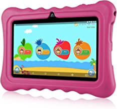 "$53 Get Ainol Q88 Kids Android 7.1 OS Tablet 7"" Display 1G RAM 8 GB ROM Light Weight Portable Kid-Proof Shock-Proof Silicone Case Kickstand Available with iWawa for Kids Education Entertainment (Pink)"
