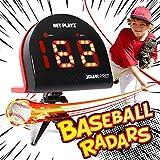 TGU Baseball Gifts, Radar Speed Guns (Hands-Free) Baseball Radar, Pitch Training Aids, High-Tech Gadget & Gear, Black (NIS022132024)