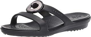 Crocs Women's Sanrah Metal Block Slide Sandal