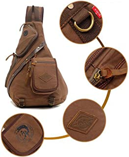 Generic Unisex Canvas Outdoor Bag Sports Shoulder Laptop Backpack