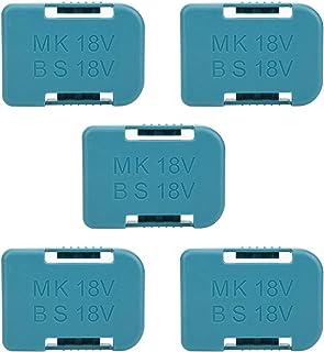 5Pcs Lithium Batterij Opbergrek Houder Plank Beugel Riem Slot Muurbevestiging Opslag Lader Clips voor Makita 18V Bevestigi...