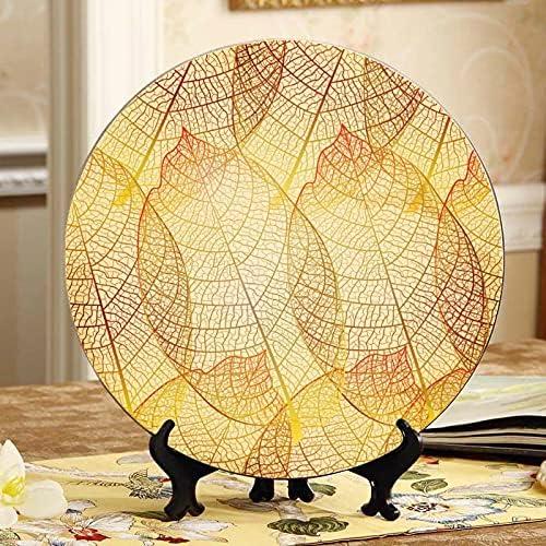 Gold sale Leaf Autumn Leaves Ceramics Home Plate Plates Fancy 70% OFF Outlet Ceramic