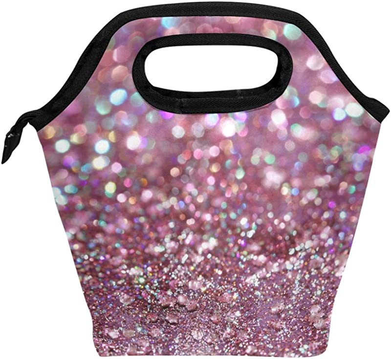 BETTKEN Lunch Bag Abstract Galaxy Star Glitter Insulated Reusable Lunch Box Portable Lunch Tote Bag Meal Bag Ice Pack For Boys Girls Adult Women