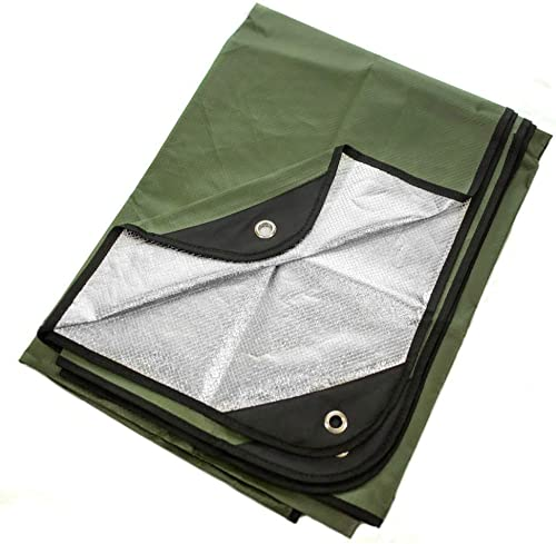 "Arcturus Heavy Duty Survival Blanket - Insulated Thermal Reflective Tarp - 60"" x 82"". All-Weather, Reusable Emergency..."