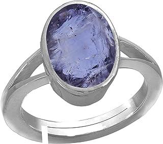 b933e5c8c Rama & Mool Chand Trading 6 ratti Kaka neeli Silver Ring Iolite Gemstone  Certified chandi anguthi