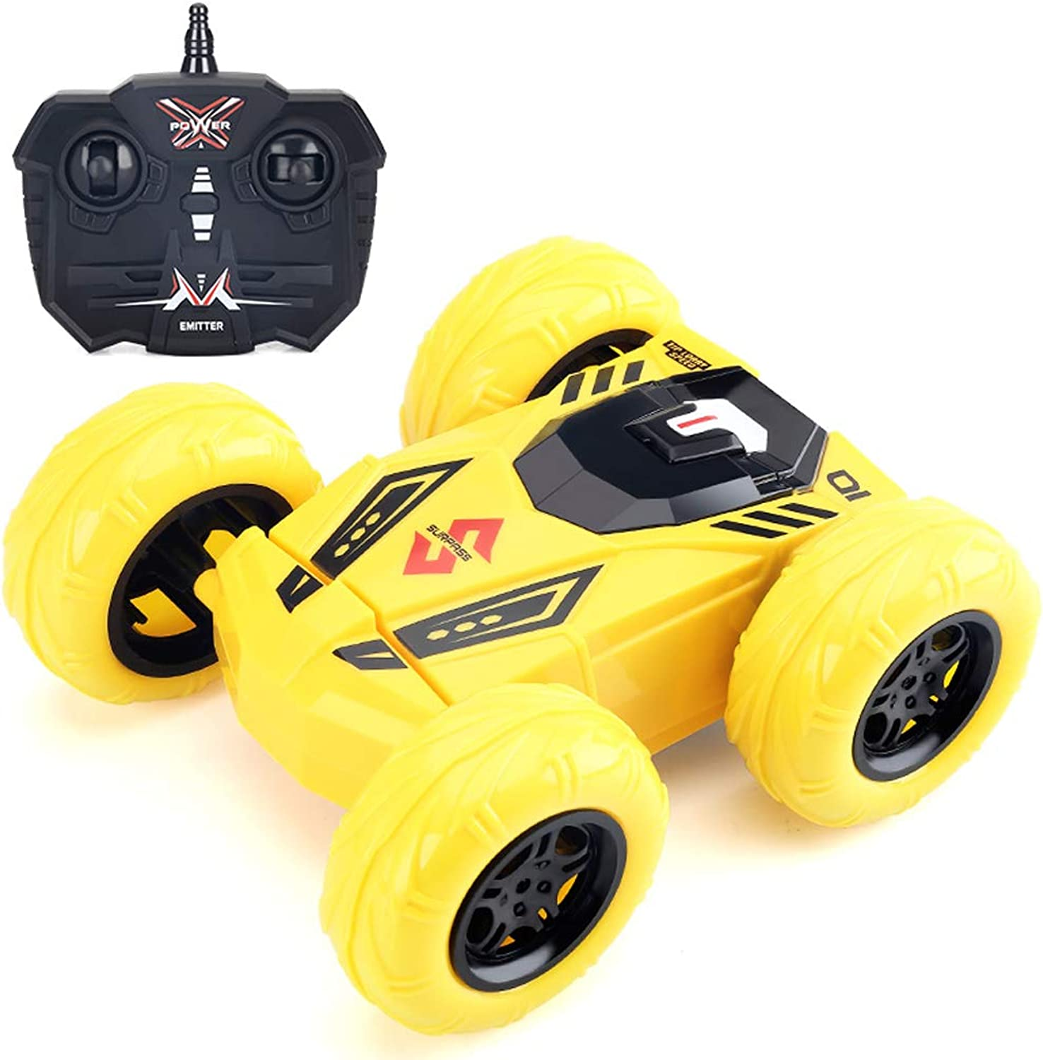 Rolling Stunt Remote Dump Truck Toy 2.4G Remote Control Car Wireless Fourwheel Drive   Charging Wireless Remote Control Car Electric Offroad Racing (without Battery) ( color   A )