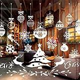 WELLXUNK® Vetrofanie Natale, Decorazione Natale Adesivo, Finestra Decorazione Adesivi, Adesivi Vetro Natalizi, Vetro Finestra Decorazione, Adesivi per Casa Porta Vetrina Finestra Decorazione (C)