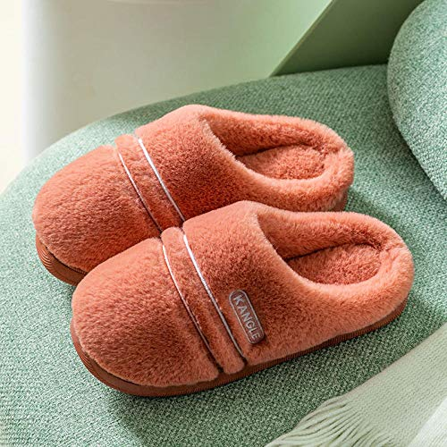 B/H Pantuflas Cómodas,Bolsa de Plataforma Interior Antideslizante para el hogar con Zapatos de Mes-P_38-39