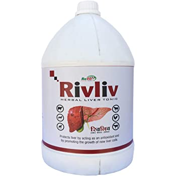 REFIT ANIMAL CARE - Liver Tonic for Goat, Cow, Cattle, Buffalo & Sheep (RIVLIV 5 LTR.)