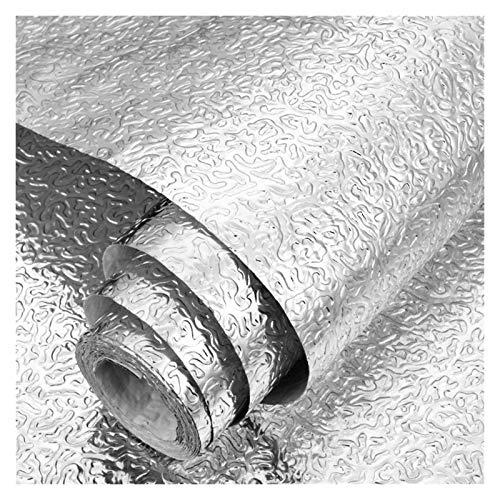 XinQing-Pegatinas de Pared Pasta de Papel de Aluminio, Pasta de Pared a Prueba de Agua Pasta de baldosas, para Cocina, gabinete, cajón, Pared, Plata (Color : C, Size : 0.4X20m)