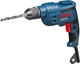 Bosch Professional GBM 10 RE - Taladro sin percusión (600 W, 1 velocidades, Ø max perforación en acero 10 mm, en caja)