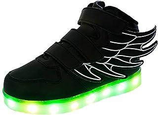GJRRX Baskets Filles Chaussures Gar/çons LED Chaussures USB Rechargeable pour Enfant Enfant Chaussures LED Basket LED pour Gar/çon Fille Basket Mode 7 Couleurs Lumi/ère Chaussure 26-36