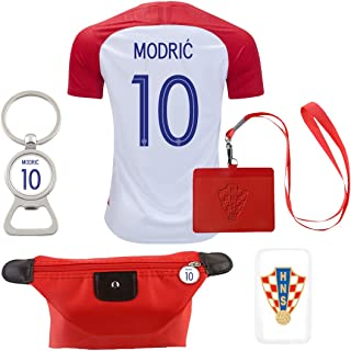 EE bestort Croatia #10 Modric 2018 Home Mens Soccer Jersey Color Plaid (X-Large)