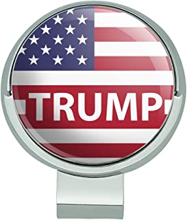 GRAPHICS & MORE President Trump American Flag Golf Hat Clip with Magnetic Ball Marker