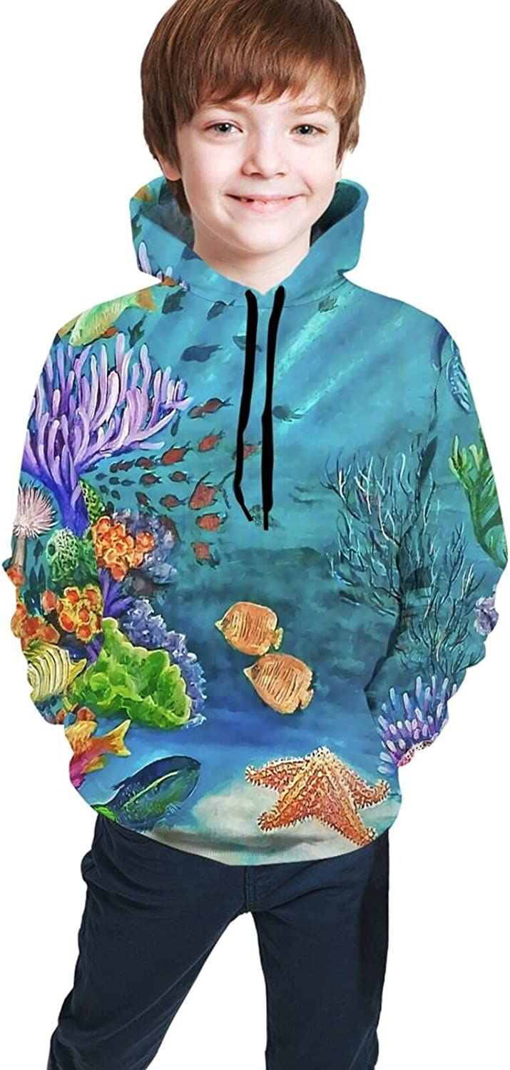 AMNIVASD Party Underwater Hoodie with 3D Kid Pockets Manufacturer regenerated Don't miss the campaign product Sweatshirt