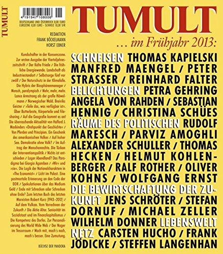TUMULT ... im Frühjahr 2013