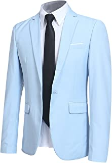 Men' Slim Fit One Button Blazer Jacket Casual/Party Sport Coat