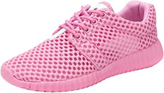 Best Running Shoes for Women On Sale,Women Sports Water Shoes Hollow Net Travel Shoes Mesh Running Slip On Shoes