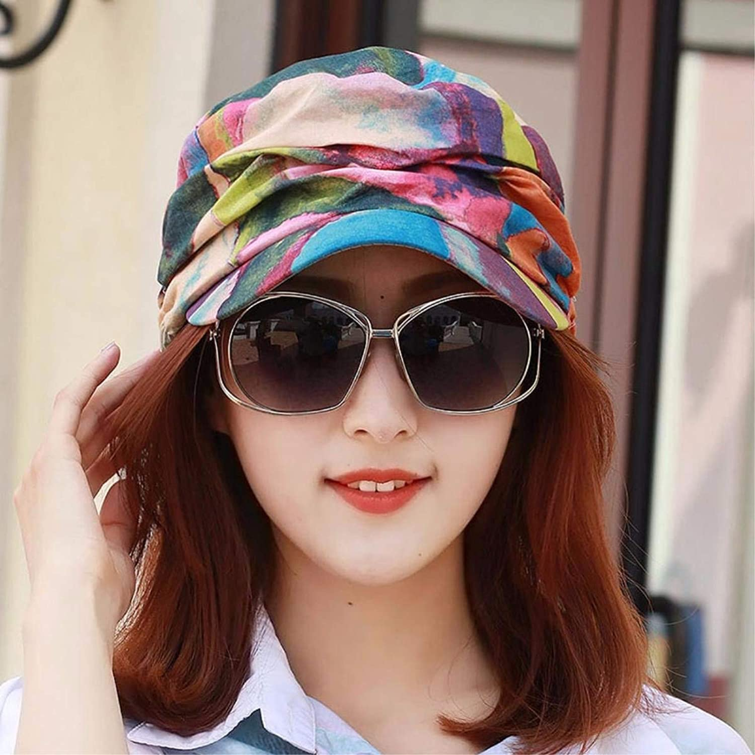 BRNEBN Hat female spring and summer cap flat top hat visor beach hat sun cap out of play.