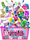 Slime Kit for Girls - 2 in 1 - DIY Slime Making Kit PLUS Slime Supplies Kit - All-Inclusive [57 Pieces Set]...