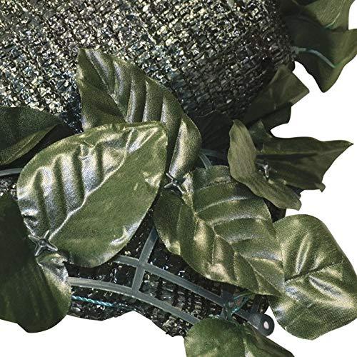 eacommerce Siepe Artificiale OMBREGGIANTE Ornamentale a Foglie di Lauro per Recinzioni, Terrazze, Giardino, Balconi. Ottima per Creare Privacy (H: 1,5x3 MT)