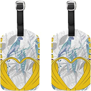 Gay Pride Bananas Heart Luggage Tags For Suitcases, Business Travel ID Identification Labels Set For Bags & Baggage-Set of 2