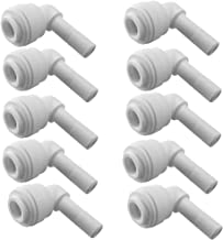 PureSec 2018 SE14TU14STEM Mini white plastic quick fitting 90 degree elbow Stem plug in push connector for tubing OD 1/4