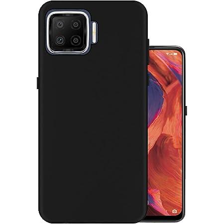Hello Zone Exclusive Matte Finish Soft Back Case Cover for Oppo F17 - Black