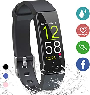 K-berho Fitness Tracker HR, Activity Tracker Watch with Heart Rate Monitor,  Sleep Monitor,  Smart Fitness Band with Step Counter,  Calorie Counter Watch Waterproof,  Pedometer Watch for Kid Women and Men
