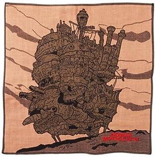 丸真 纱布 手帕 吉卜力工作城 约28×28cm 城堡和晚霞 今治 棉* 0590208100