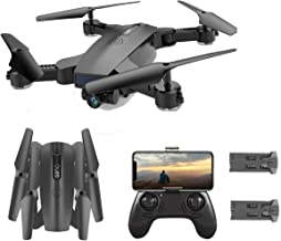 SGOTA RC Drone with Dual 720P HD 2mp Cameras Foldable FPV WiFi RC Quadcopter 2.4Ghz Remote Control Drone with Follow Me Mode (S6)