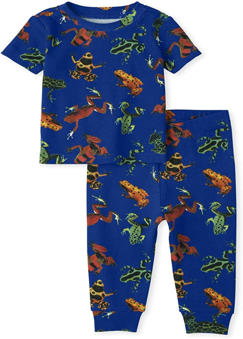 The Children's Place Baby Boys' Tree Two Piece Pajama Set