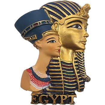Weekinglo Souvenir Tutankamon Cleopatra El Cairo Egipto Imán de Nevera Resina 3D Artesanía Hecha A Mano Turista Ciudad de Recuerdos de Recuerdos Carta de Refrigerador Etiqueta: Amazon.es: Hogar