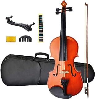 ست ویولن مبتدی NANYI اندازه 1/2 ، ویولن مبتدی چوب جامد طبیعی با استراحت شانه ، گل رز ، کمان ، کیف و بریج ، سازهای موسیقی رشته ای سرگرمی موسیقی ویولن