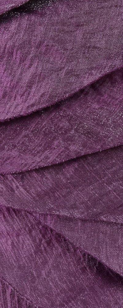 London Times Women's Tiered Shimmer One Shoulder Dress (2, Grape)